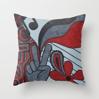 60s Throw Pillows featuring 60s Vibe by Tanya Thomas
