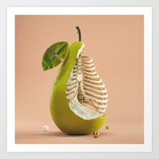 Skelepear Art Print