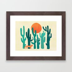 Desert fox Framed Art Print
