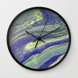 Green and Blue swirly Wall Clock