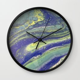 Green and Blue swirly Wall Clock