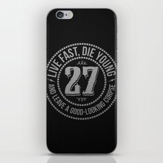Live fast die young iPhone & iPod Skin