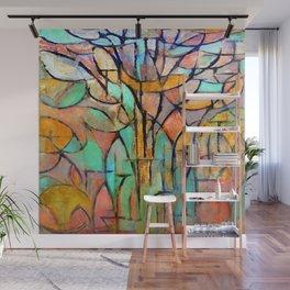 Piet Mondrian Trees Wall Mural