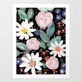 Acrylic blooms Art Print