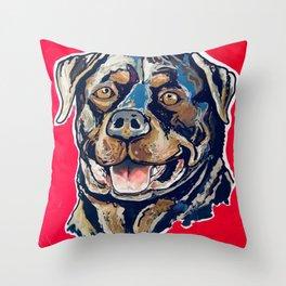 A Rottweiler Named Samson Throw Pillow