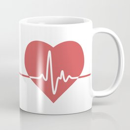 Heart with Cardiogram Coffee Mug