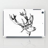 antler iPad Cases featuring deer antler by oslacrimale