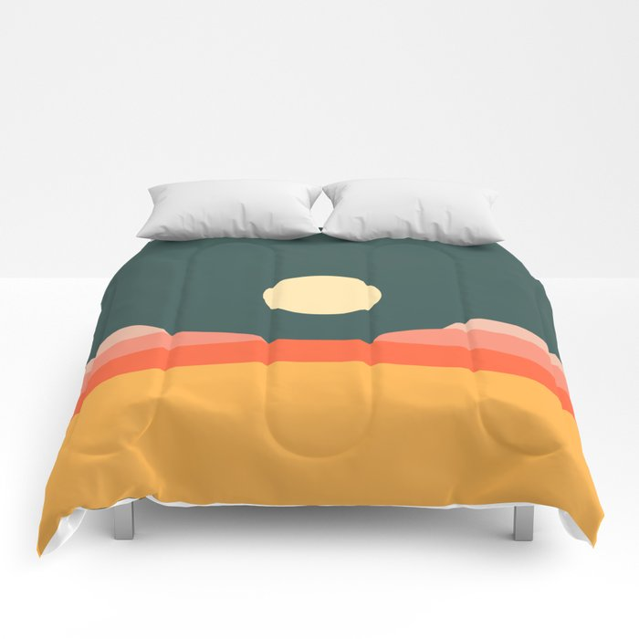 Geometric Landscape 14 Comforters