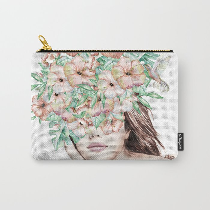 She Wore Flowers in Her Hair Island Dreams Carry-All Pouch