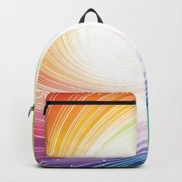 Rainbow background Backpack