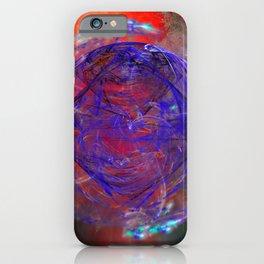 Portal to burning universe iPhone Case