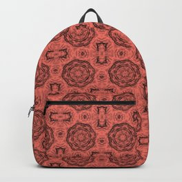 Peach Echo Doily Floral Backpack
