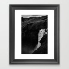 The Plunge - Seljalandsfoss  Framed Art Print