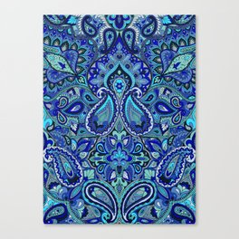 Paisley Blue Canvas Print