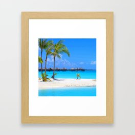Tropical Island Framed Art Print