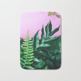 pink and foliage i Bath Mat