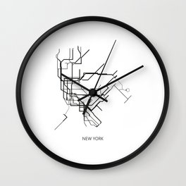 New York Subway Map Print New York Metro Map Poster,Subway Map Print,Metro Map Poster Wall Clock