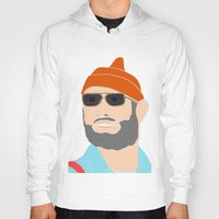 the life aquatic Hoodies featuring life aquatic  by Chad spann