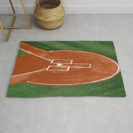 Baseball Field - Illustration Graphic Design Rug