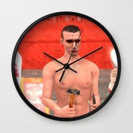 SquaRed: Symbols and Tools Wall Clock