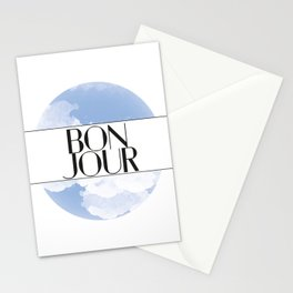 Bonjour Stationery Cards