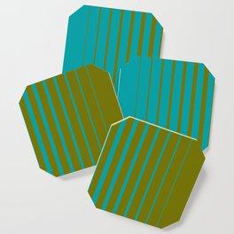 gradient stripes aqua olive Coaster