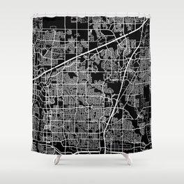 plano map texas Shower Curtain