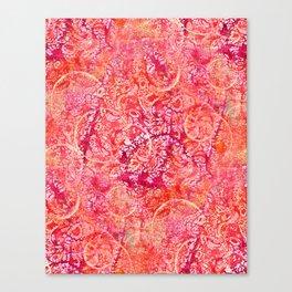 Abundance, Abstract Art Circles Grunge Canvas Print