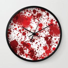 Blood Splatter Wall Clock