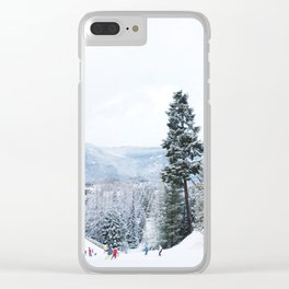 Mountain Shred Clear iPhone Case