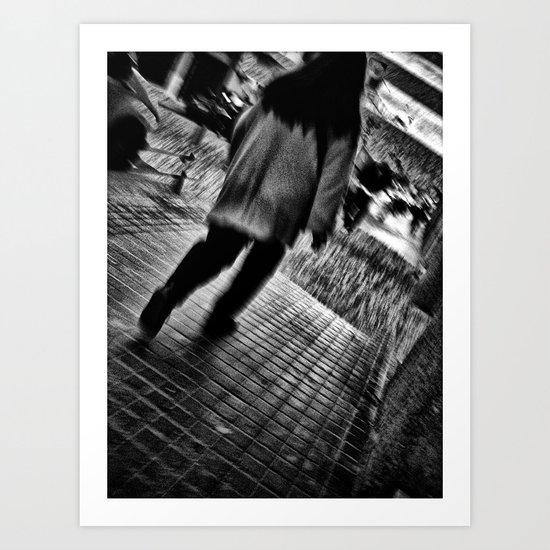 when embarking, each step Art Print