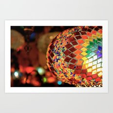 Mirrored Lamp Art Print