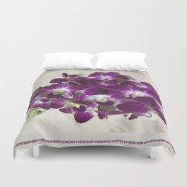 Thai Orchid - Dendrobium Cut Flower Duvet Cover