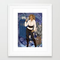 river song Framed Art Prints featuring River Song by Saintash