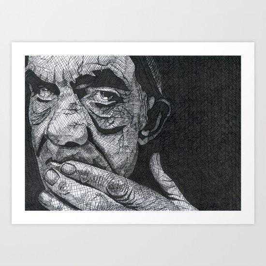 Homeless man3 Art Print
