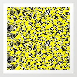 Yellow Prickly Scraps Art Print