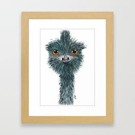Derek the Emu Framed Art Print