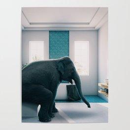 Ellie in the Bathroom Poster