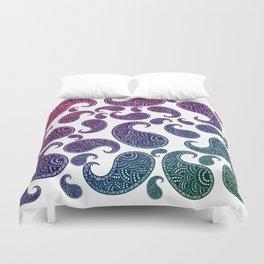 Jewel toned paisleys Duvet Cover