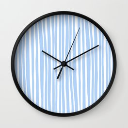 Small Geometry - Light Blue Lines Wall Clock
