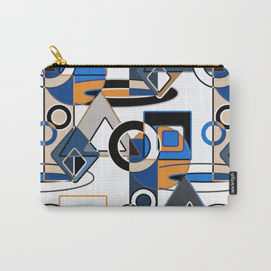 Abstract pattern with bold geometric shapes . Carry-All Pouch