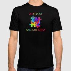 Autism Awareness Black Mens Fitted Tee MEDIUM