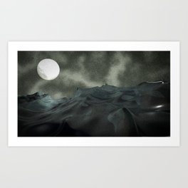 Ocean and Moon Art Print