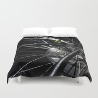 metal gear Duvet Covers featuring Gear by MadeByJenni