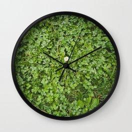 Paseo con la blanca flor Wall Clock
