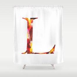 Letterforms L : Lauren Shower Curtain