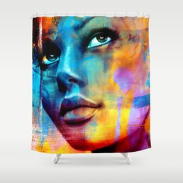 Dreaming in blue Shower Curtain