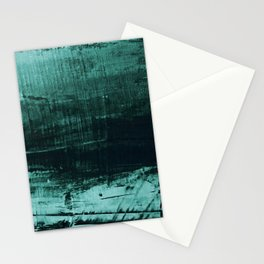 Dark Green Texture Abstract painting Stationery Cards