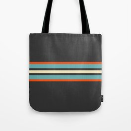 Classic Retro Stripes Amikiri Tote Bag