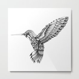 Ornate Colibri Metal Print